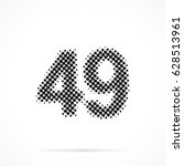 number forty nine  49 in...