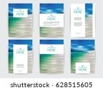 set of brochures layout with... | Shutterstock .eps vector #628515605