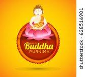 illustration of buddha purnima  ... | Shutterstock .eps vector #628516901