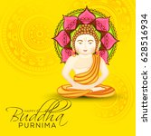 illustration of buddha purnima  ... | Shutterstock .eps vector #628516934