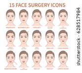 vector illustration  set of 15... | Shutterstock .eps vector #628517984