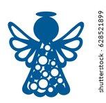 laser cutting template.... | Shutterstock .eps vector #628521899