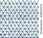 shibori indigo triangles print. ... | Shutterstock .eps vector #628523141