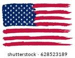 grunge usa flag. | Shutterstock .eps vector #628523189