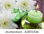 aroma candle  bath salt and... | Shutterstock . vector #62852536