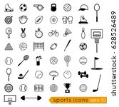 vector black icons  sports... | Shutterstock .eps vector #628526489