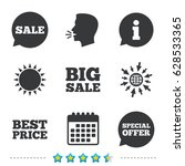 sale icons. special offer... | Shutterstock .eps vector #628533365