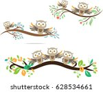 owl cute in vector | Shutterstock .eps vector #628534661