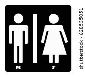 symbol of toilet sign for... | Shutterstock .eps vector #628535051