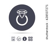 jewelry sign icon. ring with... | Shutterstock .eps vector #628537271