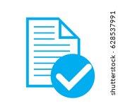 icon verification  company... | Shutterstock .eps vector #628537991