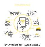 fourth industry line icon | Shutterstock .eps vector #628538069