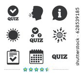 quiz icons. checklist with... | Shutterstock .eps vector #628539185