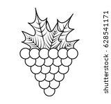 grapes fresh fruit icon | Shutterstock .eps vector #628541171