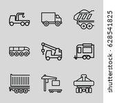 trailer icons set. set of 9...   Shutterstock .eps vector #628541825