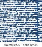 stripe seamless tie dye indigo... | Shutterstock .eps vector #628542431