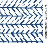 indigo shibori chevron seamless ... | Shutterstock .eps vector #628543475