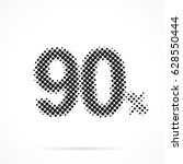 90    ninety percent in... | Shutterstock .eps vector #628550444