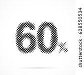 60    sixty percent in halftone.... | Shutterstock .eps vector #628550534