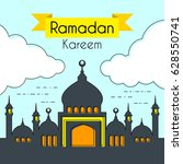 greeting card for holy month...   Shutterstock .eps vector #628550741