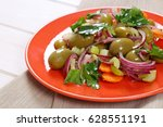 plate of vegetable salad with...