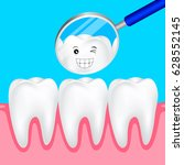 cute cartoon teeth smile to you ... | Shutterstock .eps vector #628552145