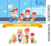 happy family is going on the... | Shutterstock .eps vector #628553801