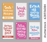 social media sale banners and... | Shutterstock .eps vector #628556084