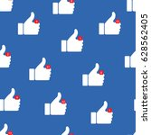 thumbs up icons. vector... | Shutterstock .eps vector #628562405