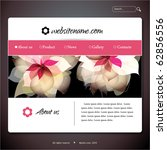 vector web site design template ...   Shutterstock .eps vector #62856556