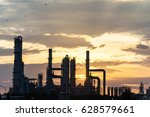 oil refiery plant  and chemical ...   Shutterstock . vector #628579661