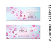 banners with rose petals   Shutterstock .eps vector #628584491