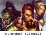 digital illustration of...   Shutterstock . vector #628586825
