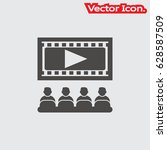 video lecture  icon isolated... | Shutterstock .eps vector #628587509