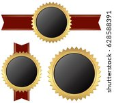 template set of different gold... | Shutterstock .eps vector #628588391