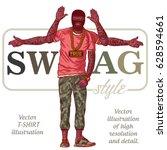 black lives matter. guy in...   Shutterstock .eps vector #628594661