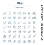 vector graphic set. icons in... | Shutterstock .eps vector #628596695