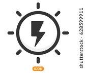 alternative power icon  | Shutterstock .eps vector #628599911