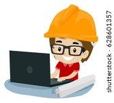 vector illustration of kid boy... | Shutterstock .eps vector #628601357