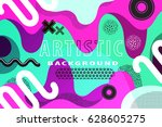 bright and high contrast... | Shutterstock .eps vector #628605275