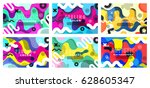 set of bright and high contrast ... | Shutterstock .eps vector #628605347