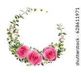 Flower Circle Round Wreath...
