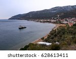 town on the coast | Shutterstock . vector #628613411