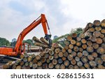wood processing factory | Shutterstock . vector #628615631