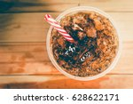 refreshing bubbly soda pop with ... | Shutterstock . vector #628622171