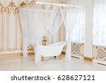 luxury bathroom in light colors ... | Shutterstock . vector #628627121