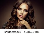 glamour portrait of beautiful... | Shutterstock . vector #628633481