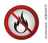 forbidden signs design | Shutterstock .eps vector #628636475