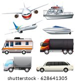 different types of vehicles... | Shutterstock .eps vector #628641305