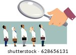 searching for a doctor. giant... | Shutterstock .eps vector #628656131